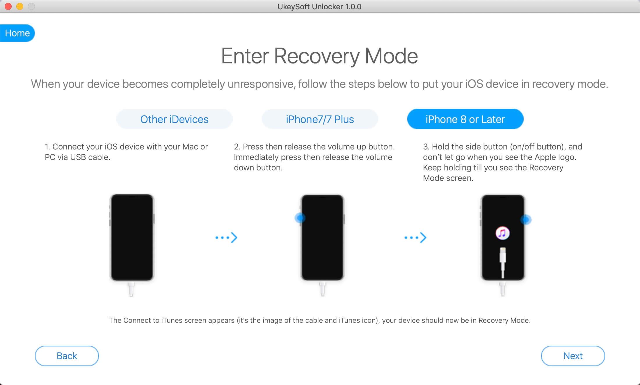 перевести iPod touch в режим восстановления