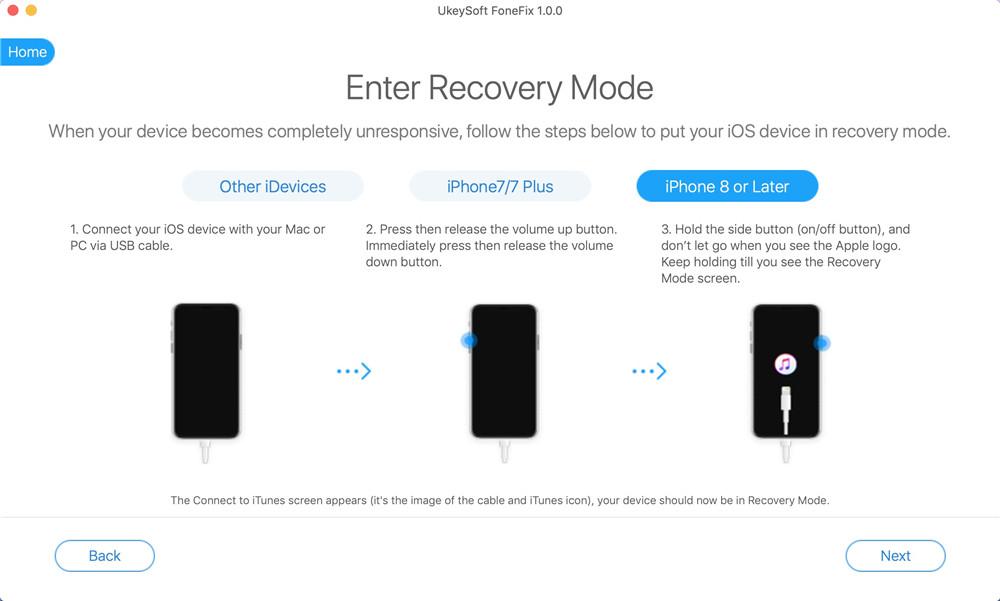 Переведите iPhone в режим восстановления, чтобы установить iOS 14
