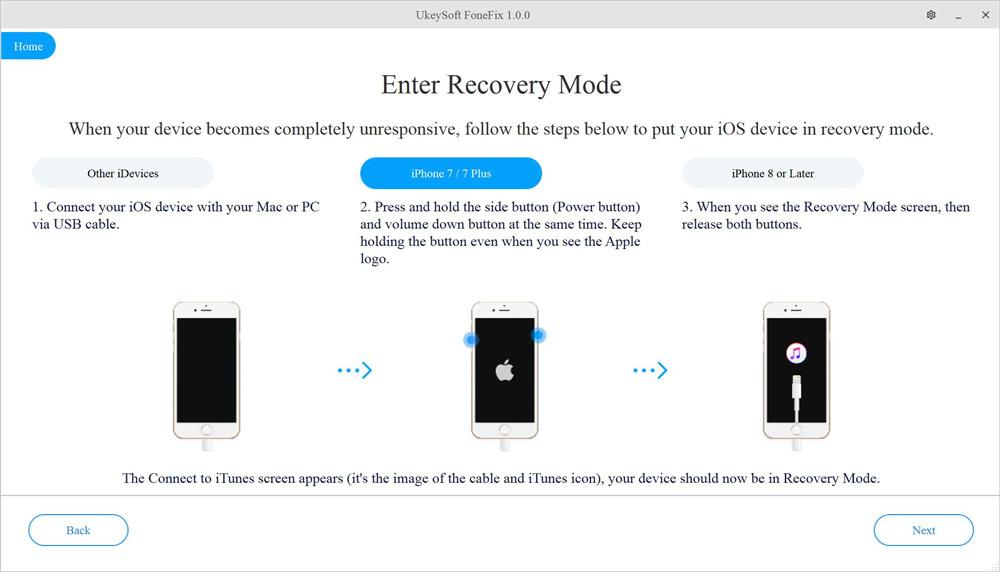 Переведите iPhone в режим восстановления
