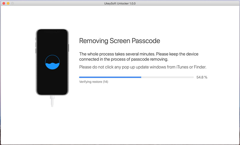 удалить пароль экрана iphone