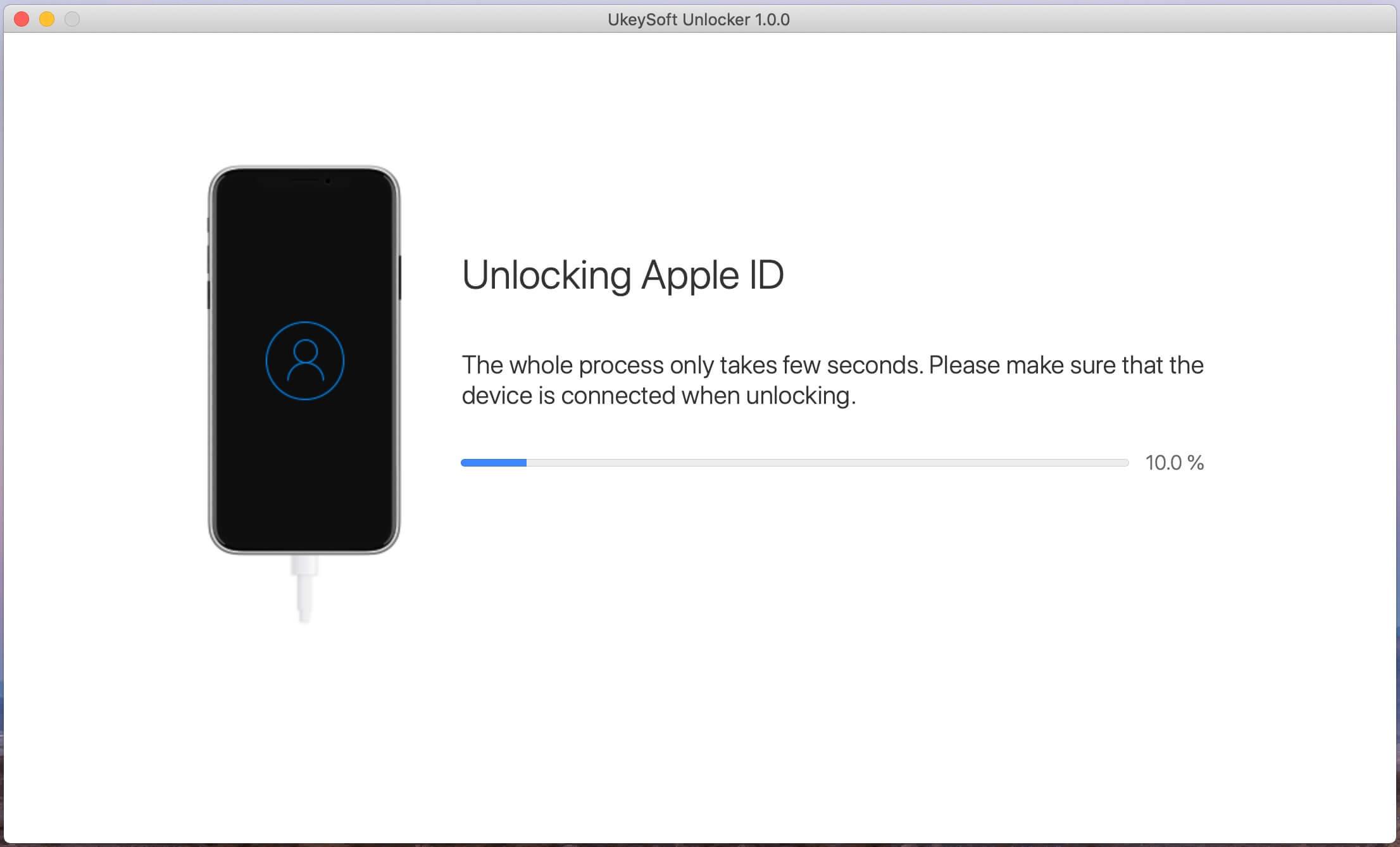начать разблокировать Apple ID
