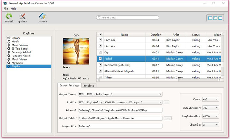 Convert Apple Music songs to MP3, M4A, AC3
