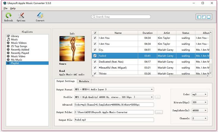UkeySoft Apple Music Converter full screenshot