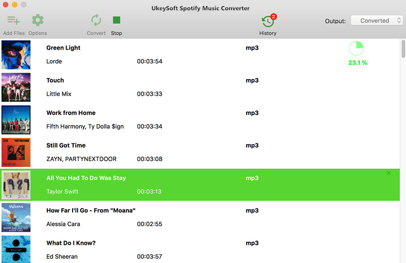 UkeySoft Spotify Music Converter for Mac full screenshot