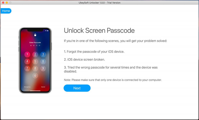UkeySoft Unlocker for Mac full screenshot