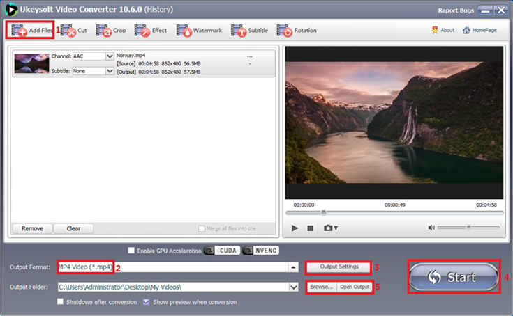 Convert and edit many video and audio files