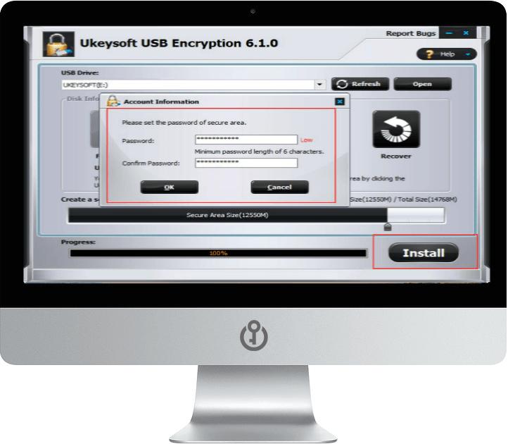 Запустите шаг USB-шифрования 3