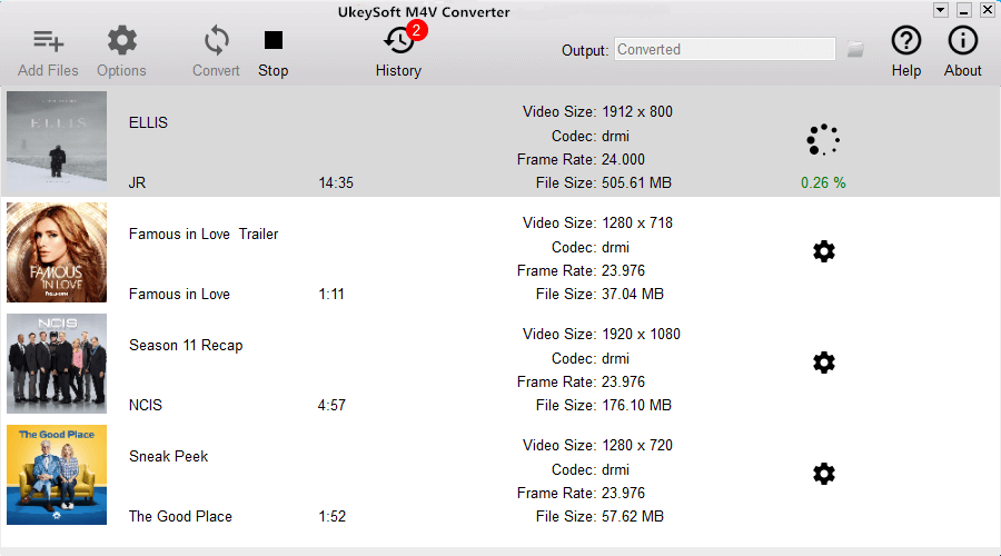 Ukeysoft M4V Converter for Mac full screenshot