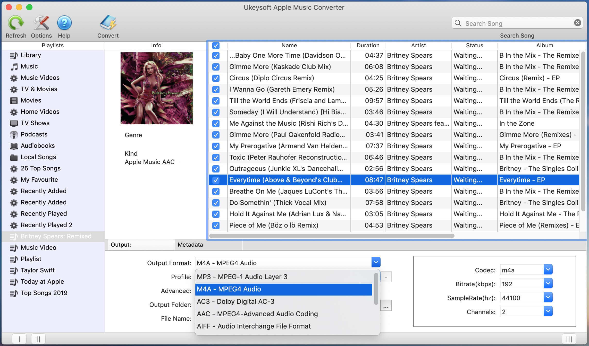 Convert Apple Music to MP3, M4A, AAC, AC3, FLAC, M4R, etc on Mac