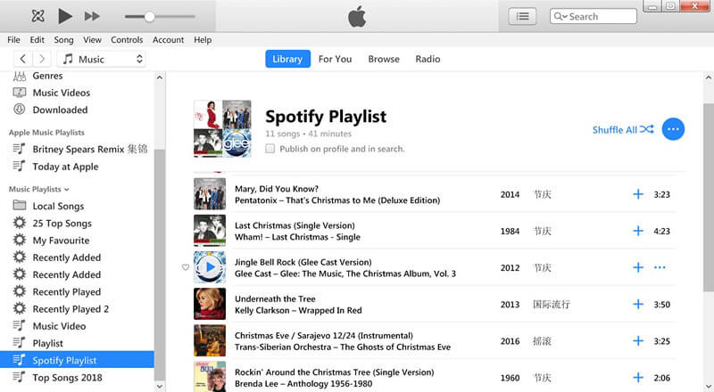 Spotify to Apple Music - Transfer Playlists from Spotify to