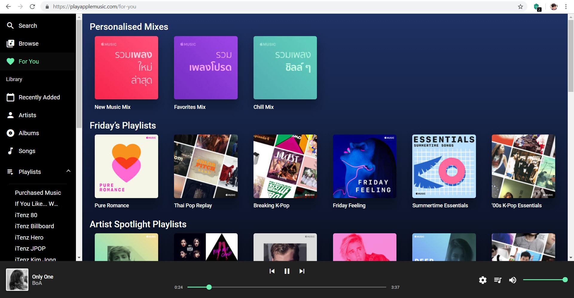Best Apple Music Web Players 2019