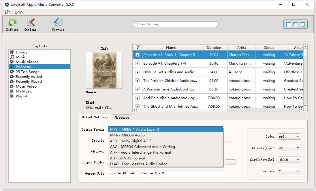 How to Convert iTunes Audiobooks to MP3, M4A, etc