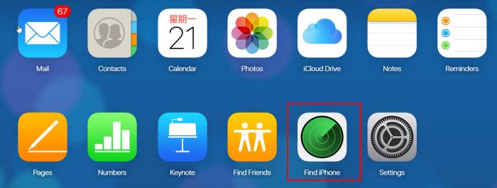 найти мой iPhone на iCloud