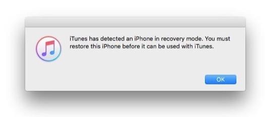 использовать режим восстановления, чтобы исправить iphone отключен подключиться к itunes