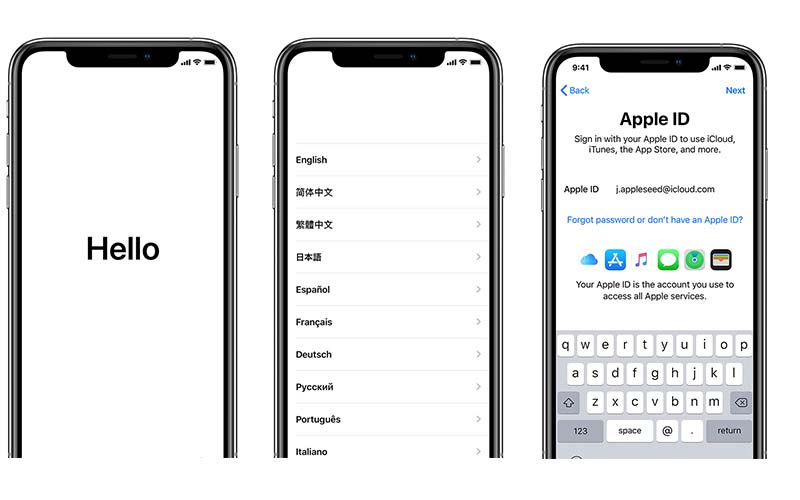 настроить iPhone для использования iOS 14