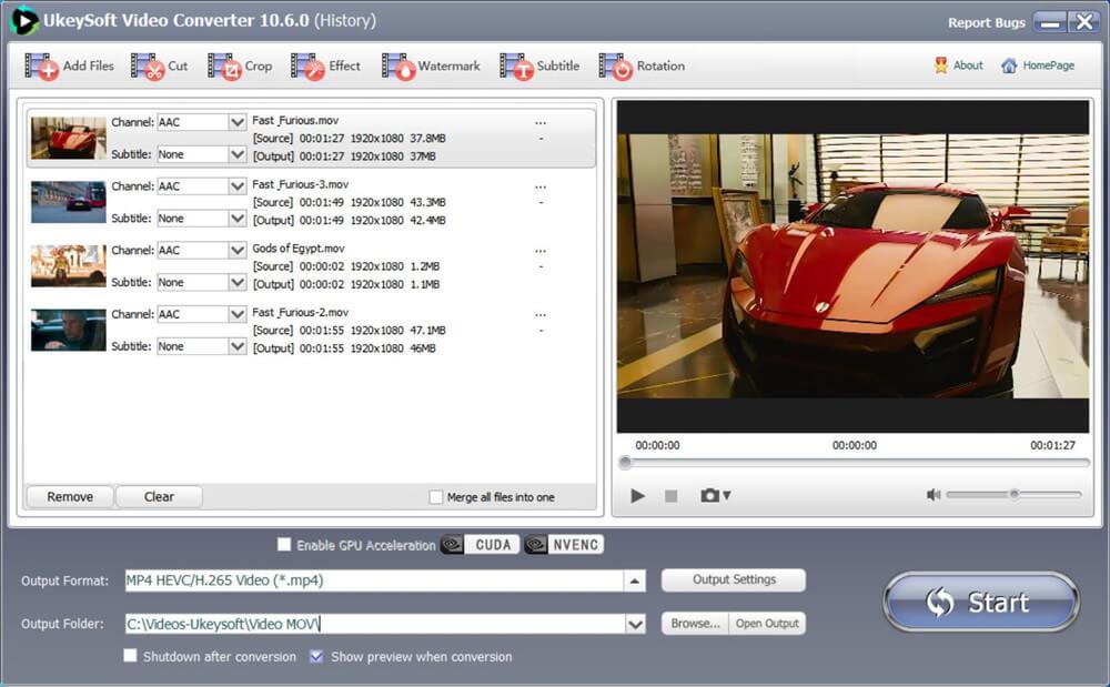 добавлены файлы MOV