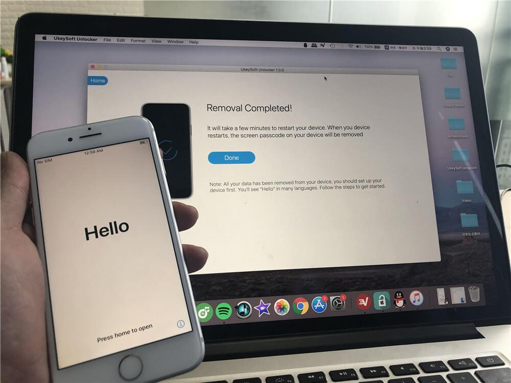 iPhone déverrouillé avec succès
