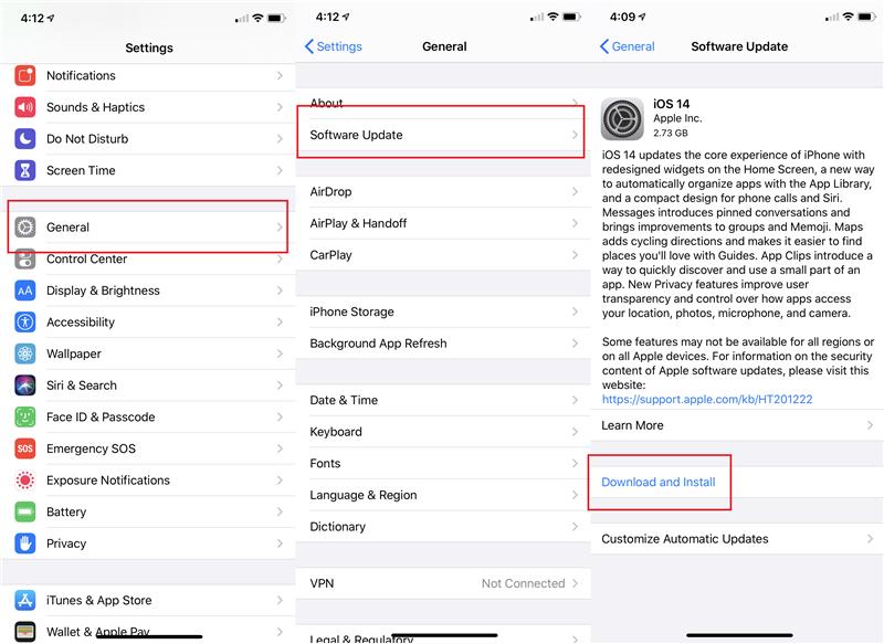 установить iOS 14 на iPhone через OTA